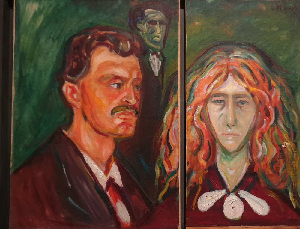Edvard Munch, British Museum, Self-Portrait with Tulla Larsen