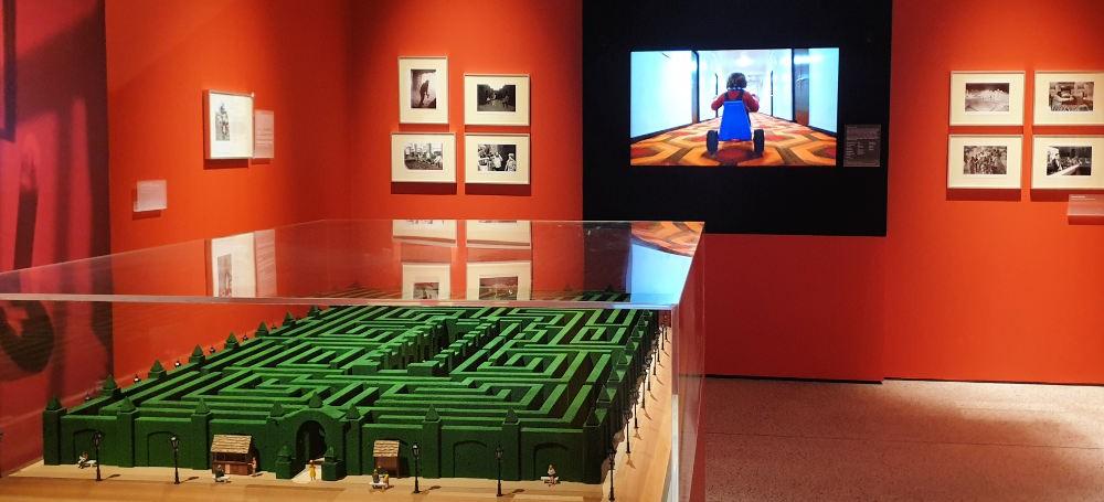Stanley Kubrick, exhibition, design museum, Overlook Maze, Shining