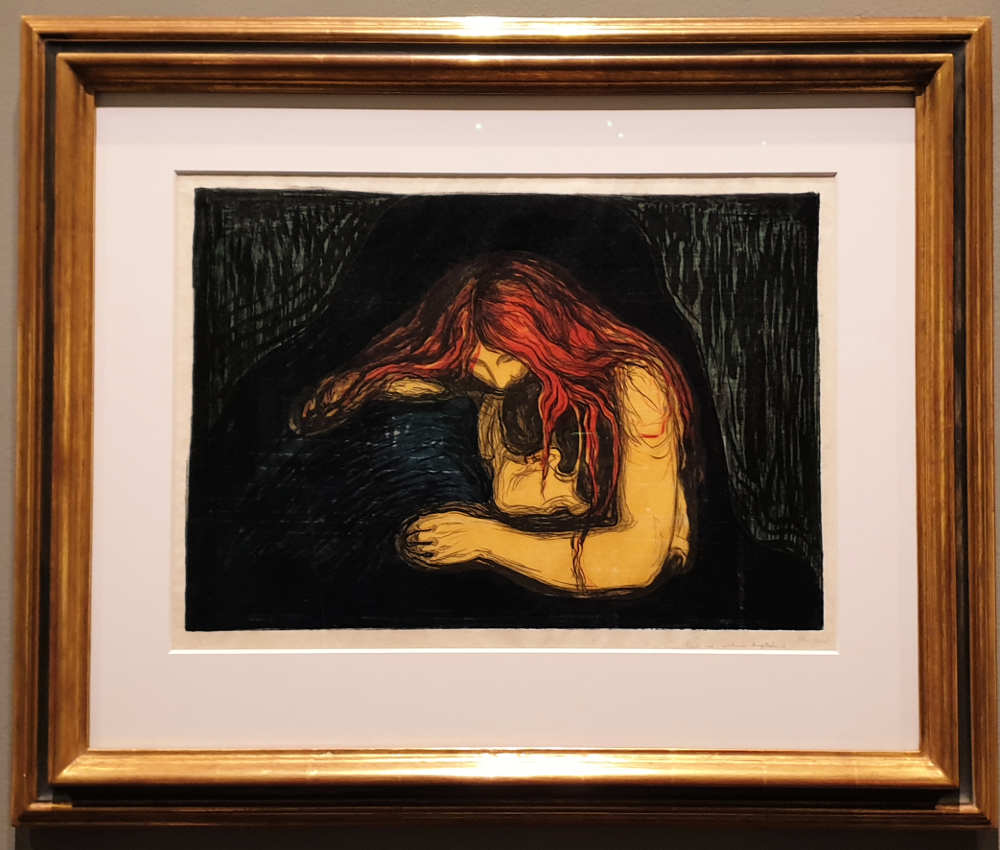 Munch, British Museum, Vampire, Love and Pain