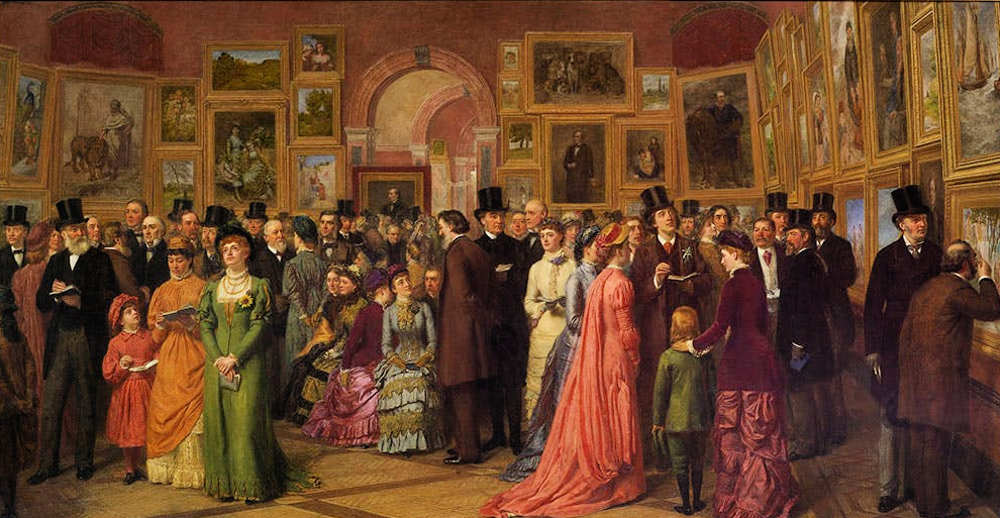 Summer Exhibition, Royal Academy, A Private View, Oscar Wilde, William Powell Frith