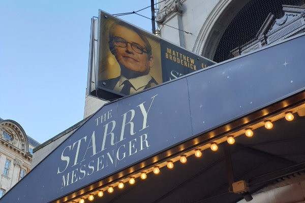 Starry Messenger, review, London, Broderick Elizabeth McGovern, Wyndham Theatre, Kenneth Lonergen