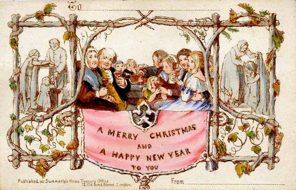 world's first Christmas card, Henry Cole, V and A, Victoria and Albert, The Great Exhibition, Crystal Palace, Queen, Victoria