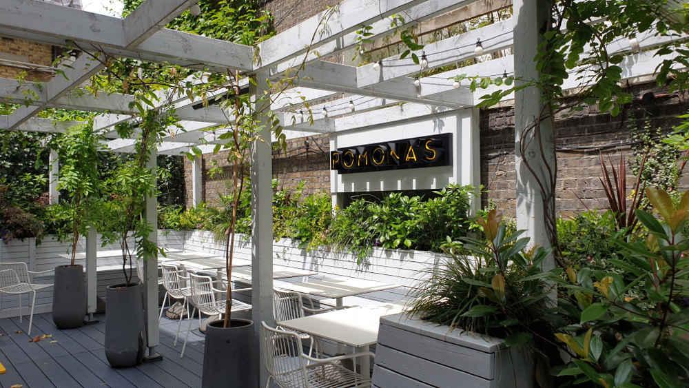 Pomona's, outdoor terrace