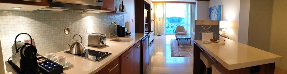 Carillon Miami Living Room, Kitchen
