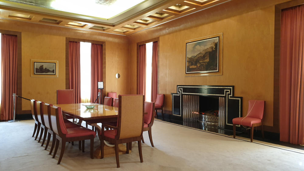 Eltham Palace Art Deco dining room