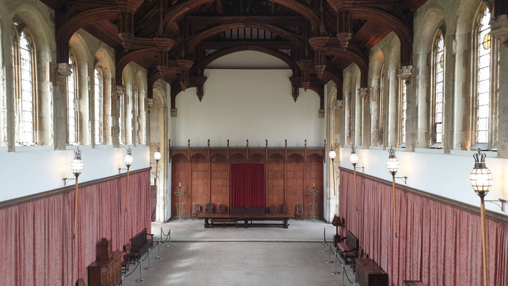 medieval hall at Eltham Palace