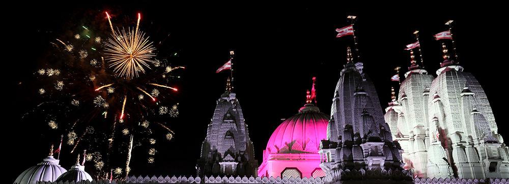 Diwali, Neasden temple