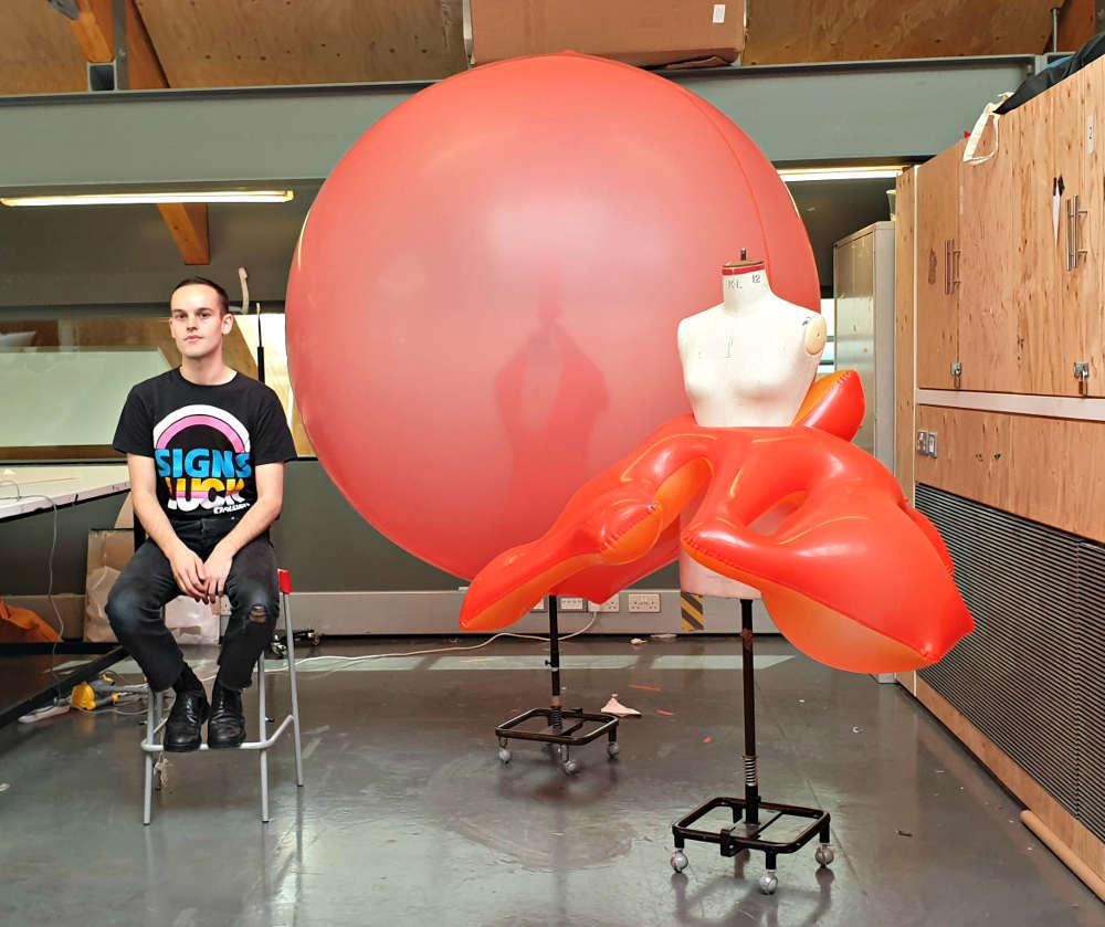 Fredrik Tjaerandsen, balloon dress, NOVA, MullenLowe