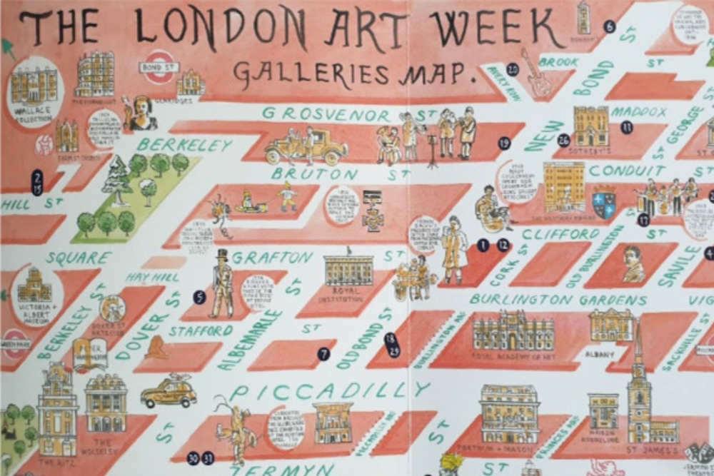 London Art Week map