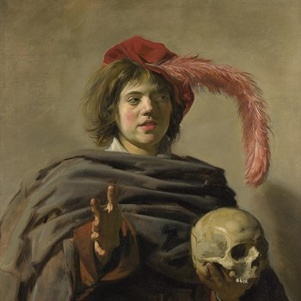 Young Man holding a Skull, Frans Hals