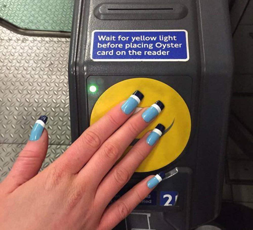 acrylic nails oyster card
